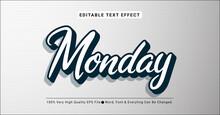 3d Monday Text Style Effect, Editable Text Effect