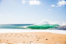 Waves On The Beach In Hawaii