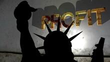 Statue Of Liberty Against Broken Profit Background 3d Illustration