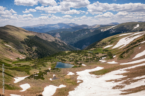 Blue Lake with Mount Evans in the background