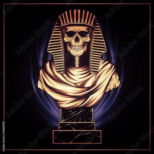 Billede på lærred Egyptian Mummy Skull