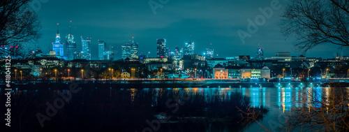 Fototapeta Warszawa nocą Warsaw by night obraz