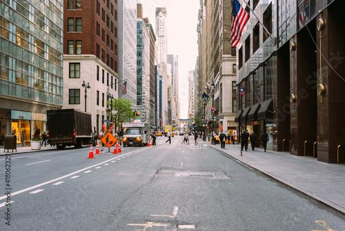 Leinwand Poster Streets of Manhattan