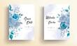 Elegant wedding invitation card with beautiful floral ornaments