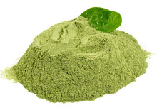 Spinach Powder On White Background Isolated