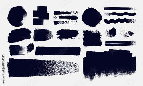 Canvas Print Set of Paintbrush, brush strokes templates