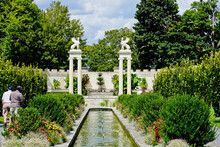 Sphinxes And Amphitheater In Untermyer Park New York City USA