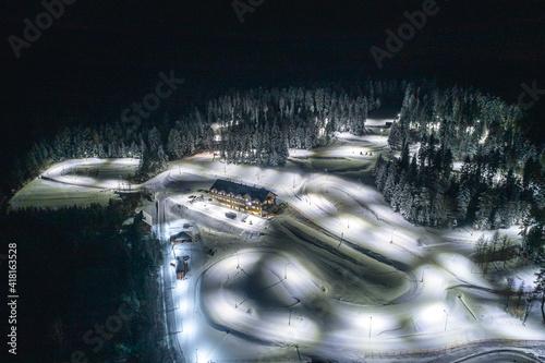 Obraz na plátne Zimowe centrum sportu, Nowy Sącz, gmina Grybów