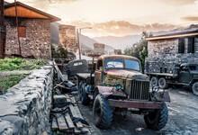 Old Sovet Truck In Mestia, Georgia