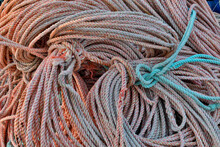 Rope In Crescent City Marina, Northern California