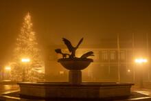 Herbst Winter Licht Weihnachten Stadt Weihnachtsbaum Nebel Lüneburger Heide Munster