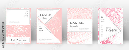 Obraz Cover page design template. Stylish brochure layout. Charming trendy abstract cover page. Pink and b - fototapety do salonu