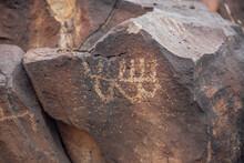 Serrano Native American Rock Art In The Mojave Desert.