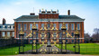 Beautiful gate and exterior view of Kensington Palace captured in London, England