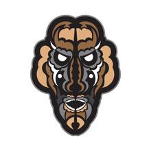 Maori Or Samoan Style Mask. Polynesian Style Tiki. Good For Prints. Isolated. Vector