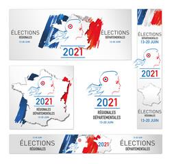élections régionales et départementales en France les 13 juin et 20 juin 2021
