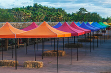 Colorful Outdoor Canopy Tent For Event And Festival In Park