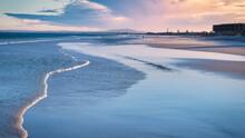 People Enjoying Lagoon Beach In Cape Town At Sunrise