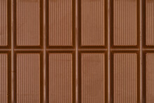 Macro Photo Of A Sweet, Delicious Bar Of Chocolate Photo Taken From Above