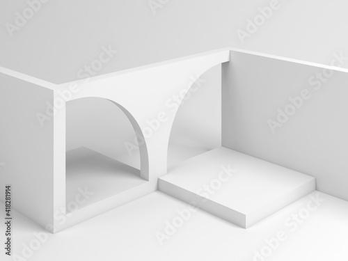 Abstract white architectural installation 3 d © evannovostro