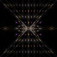 3d Effect - Abstract Fractal Pattern