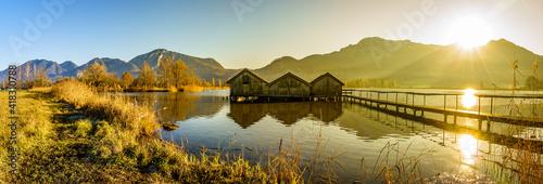 Canvas old hut at the kochel lake - bavaria