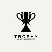 Trophy Vector Logo Icon.champions  Trophy Logo Icon For Winner Award Logo Template