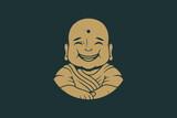 Buddha Smile Vintage Logo Design