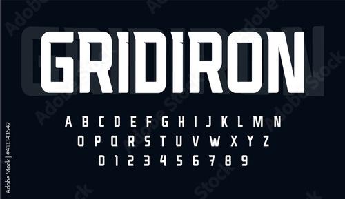 Canvas Sport condensed alphabet