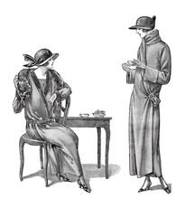 Women Wearing Vintage Clothing Vintage Fashion Magazine France Paris