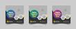 Editable Post Template Social Media Banners for Digital Marketing. Creative Modern Stories. Streaming. Vector Illustration