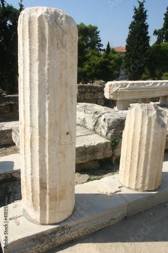 Obraz na plátně Greek Ruins on the Acropolis