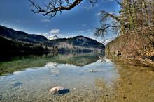 Der Idyllische Alpsee Bei Hohenschwangau Im Frühling