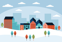 Winter Buildings Cityscape