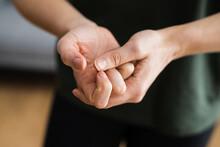 Hand Knuckle Finger Joint Crack