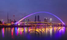 Pedestrian Bridge Across Dubai Creek, Water Canal Walk, UAE