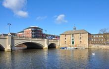Old Customs House Beside Town Bridge On The River Nene, Peterborough, Cambridgeshire, England, UK
