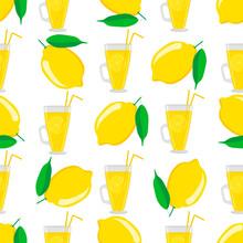 Illustration On Theme Big Colored Lemonade In Lemon Cup