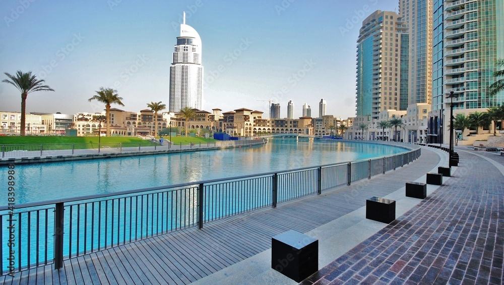 Fototapeta Dubai views, city skyline  and the landmarks