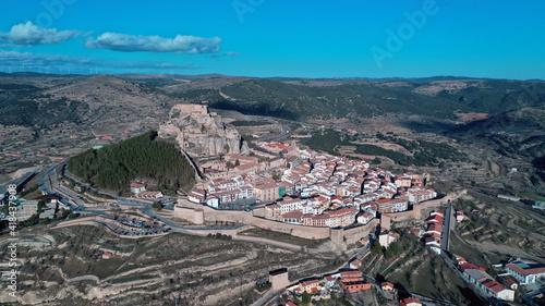 Morella Old Castle Castellon Spain - Castillo de Morella Fototapet