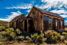 Ghost Town Of Abandoned Houses In A Old Mining Town In Bodie, California.