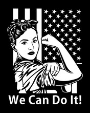 Vintage We Can Do It Poster Vector Illustration