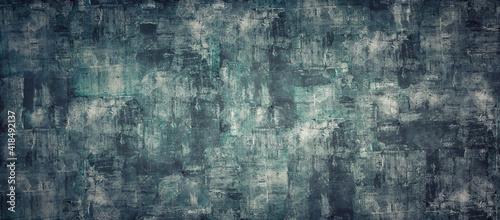 Obraz Empty dark like oil color concrete texture background panorama banner long - fototapety do salonu