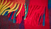 Manta De Lana De Colores Con Flecos