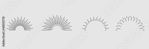 set. Sunburst icon collection vector. Fototapeta