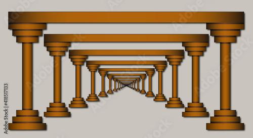Fotografering columns of columns