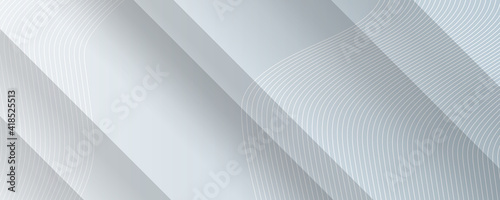 Obraz Vector Abstract Elegant white and grey Background. Abstract white Pattern. Squares Texture - fototapety do salonu