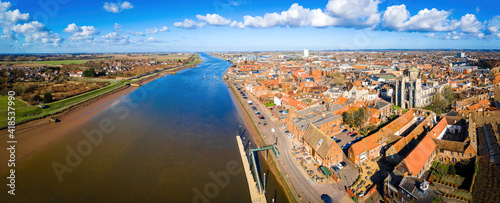 Tablou Canvas An aerial view of King's Lynn, a seaport and market town in Norfolk, England