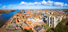 An Aerial View Of King's Lynn, A Seaport And Market Town In Norfolk, England