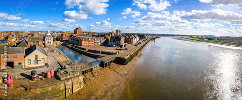 Fotografia An aerial view of King's Lynn, a seaport and market town in Norfolk, England